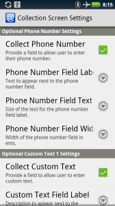 optional field preferences