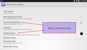 email sign up preferences screen