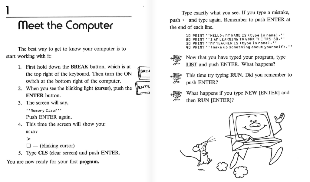 pages from the kids working with computers book