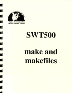 cover of makefile training book